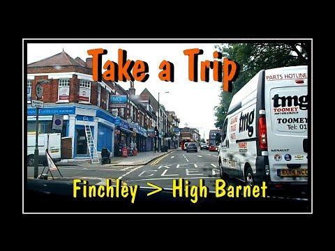 Tally-Ho Corner - Finchley .... to High Barnet ( A 'Dashcam' view + )