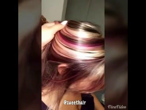 Blonde and purple highlights youtube blonde and purple highlights pmusecretfo Image collections