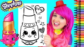 Coloring Shopkins Lippy Lips GIANT Coloring Page Crayola Crayons | KiMMi THE CLOWN