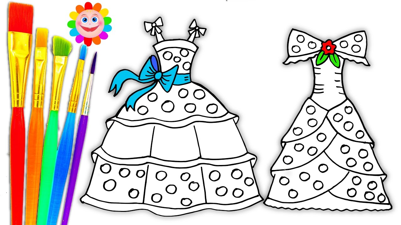 Coloring Pages Dresses for Girls Drawing Pages to Learn