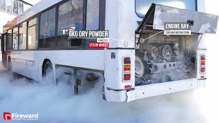 Fireward - Volvo B10 Bus -  Automatic Fire Suppression System Discharge