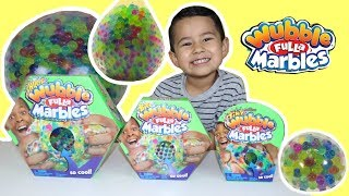 Wubble Fulla Marbles, Wubble Ball, Huge, Big, Tiny squishy toy review, Bubble slime
