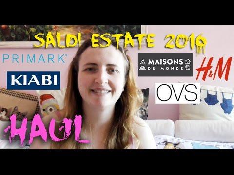 HAUL SALDI ESTATE 2016 | H&M - MAISONS DU MONDE - OVS - KIABI - PRIMARK