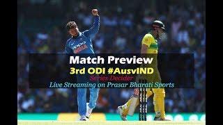Australia vs India 3rd ODI Match Preview | Cricket Live | DD Sports