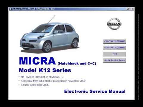 nissan micra (k12) - workshop, service, repair manual - youtube