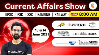 8:00 AM - 13 \u0026 14 June 2021 Current Affairs | Daily Current Affairs 2021 by Bhunesh Sir | wifistudy