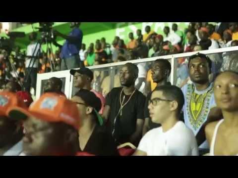 Eddy Kenzo Watching Ivory Coast vs Equatorial Guinea live