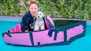PUPPY GOES FOR A BOAT RIDE!!
