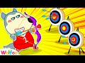 Be Perseverance Wolfoo! You Can Play Bow & Arrow Better - Fun Toy Archery For Kids   Wolfoo Channel
