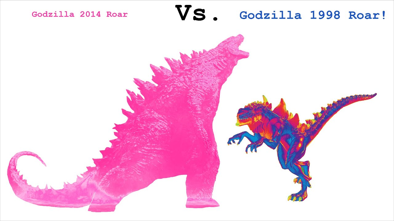 Godzilla 2014 Roar VS. Godzilla 1998 Roar!!! - YouTube