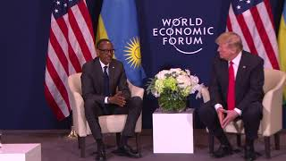 President Kagame meets with US President Donald Trump at World Economic Forum in Davos