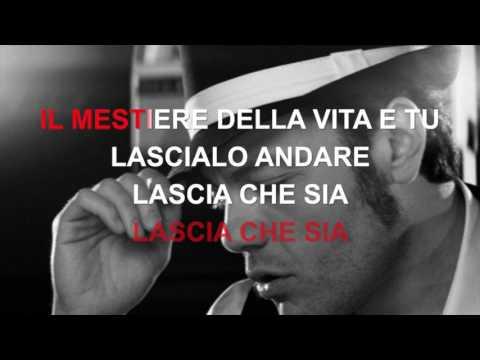 Tiziano Ferro - Il mestiere della vita - Karaoke con testo