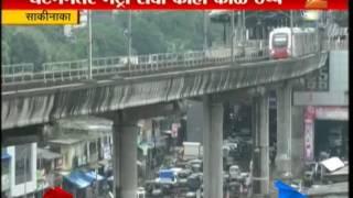 Sakinaka Suicide In Front Of Metro Rail