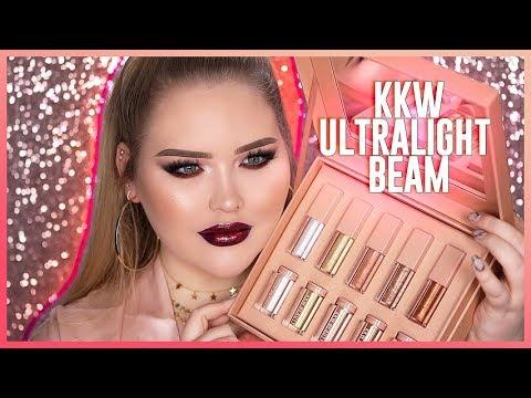 KIM KARDASHIAN: KKW Ultralight Beam Glow + Glosses REVIEW!