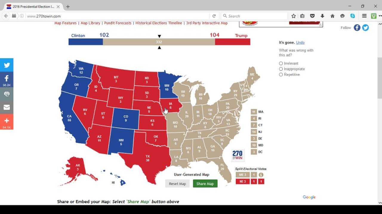 My July Electoral Map Predictions YouTube - Interactive us electoral map