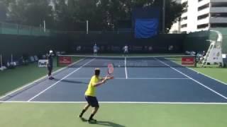 Tennis Dubai 2017 | Pro Players Practicing | Court Level View | Full - HD