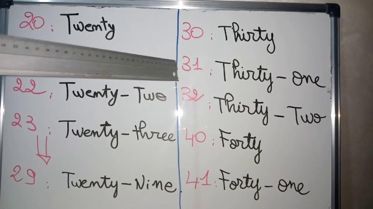 الدرس 3: English numbers 0 to 100 (أجي تعلم الأرقام باللغة الانجليزية من 0 إلى 100) - YouTube