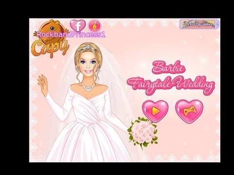 Barbie Wedding Dressup And Makeover Games Play Free Online Youtube