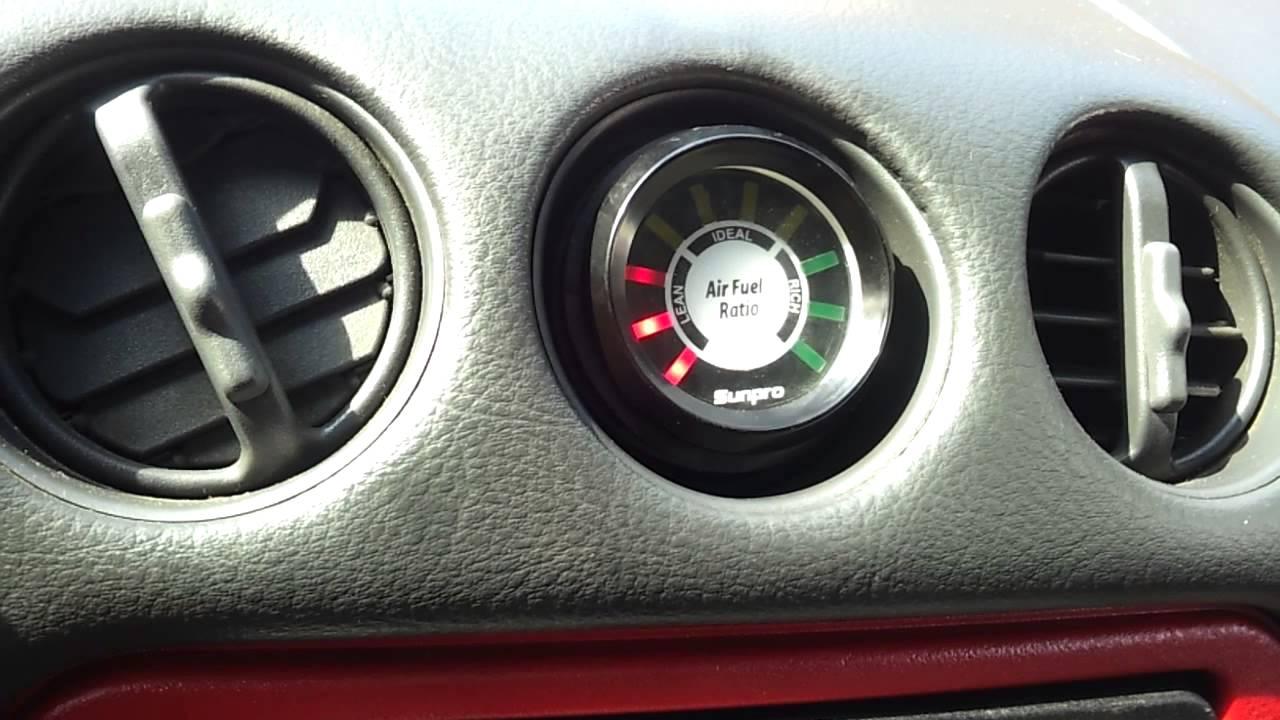 firehawk air fuel gauge install. vent - YouTube