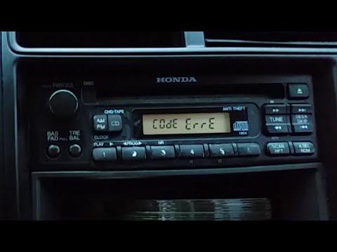 ERROR on a Honda radio - what to do