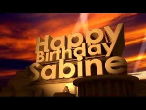 Happy Birthday Sabine Youtube