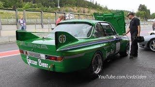 BMW E9 3.0 CSL Race Car - LOUD Sound!