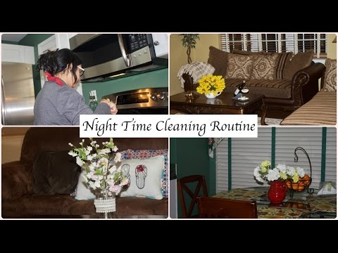 Night Time Cleaning Routine | Indian(NRI)  Stay AT Home Mom | Speed Clean With Me
