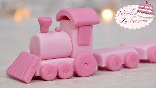 Babyshower Cake Topper I Eisenbahn aus Fondant modellieren I Anleitung