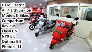Hero Electric 4 Lithium ion E Bikes Review Comparison