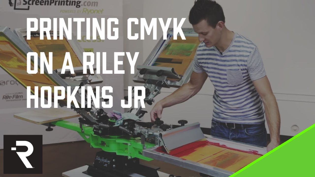 Le t shop making of obsek 4 color process cmyk t shirt youtube - How To Setup A Riley Hopkins Jr Press For Cmyk Screen Printing