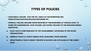 HRM POLICIES/PERSONNEL POLICIES