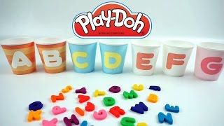 Learn Alphabets with Play Doh and Paper Cups Kids Videos for Toddlers