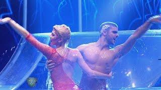 Candela Ruggeri sorprendió en el Aquadance