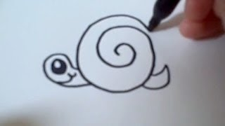 How to draw a Cartoon Snail