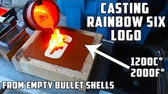 Making Brass Rainbow Six logo with empty bullet shells