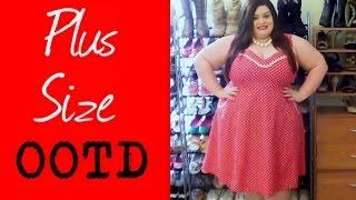 Plus Size OOTD: Cherry Velvet Suzy Dress Thumbnail