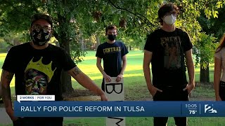 Rally for police reform in Tulsa