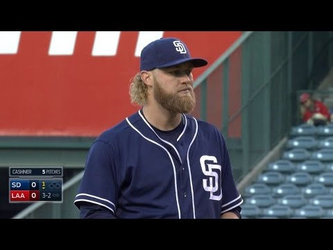 SD@LAA: Cashner strikes out six over seven innings