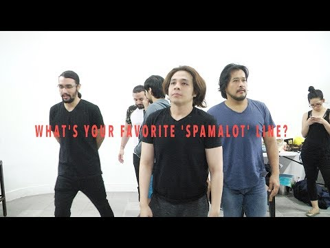 'Spamalot' cast members deliver their favorite lines from the musical
