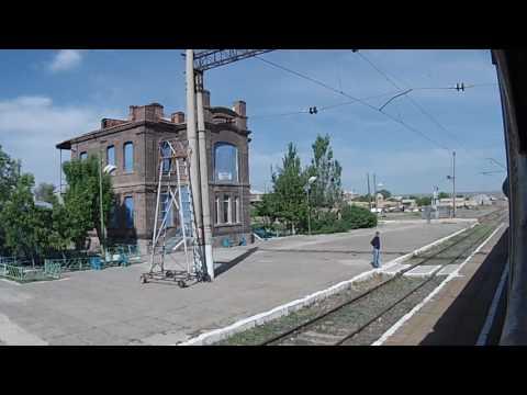 Ереван - Гюмри ЮКЖД на электропоезде. Часть 2. Аракс - Ани
