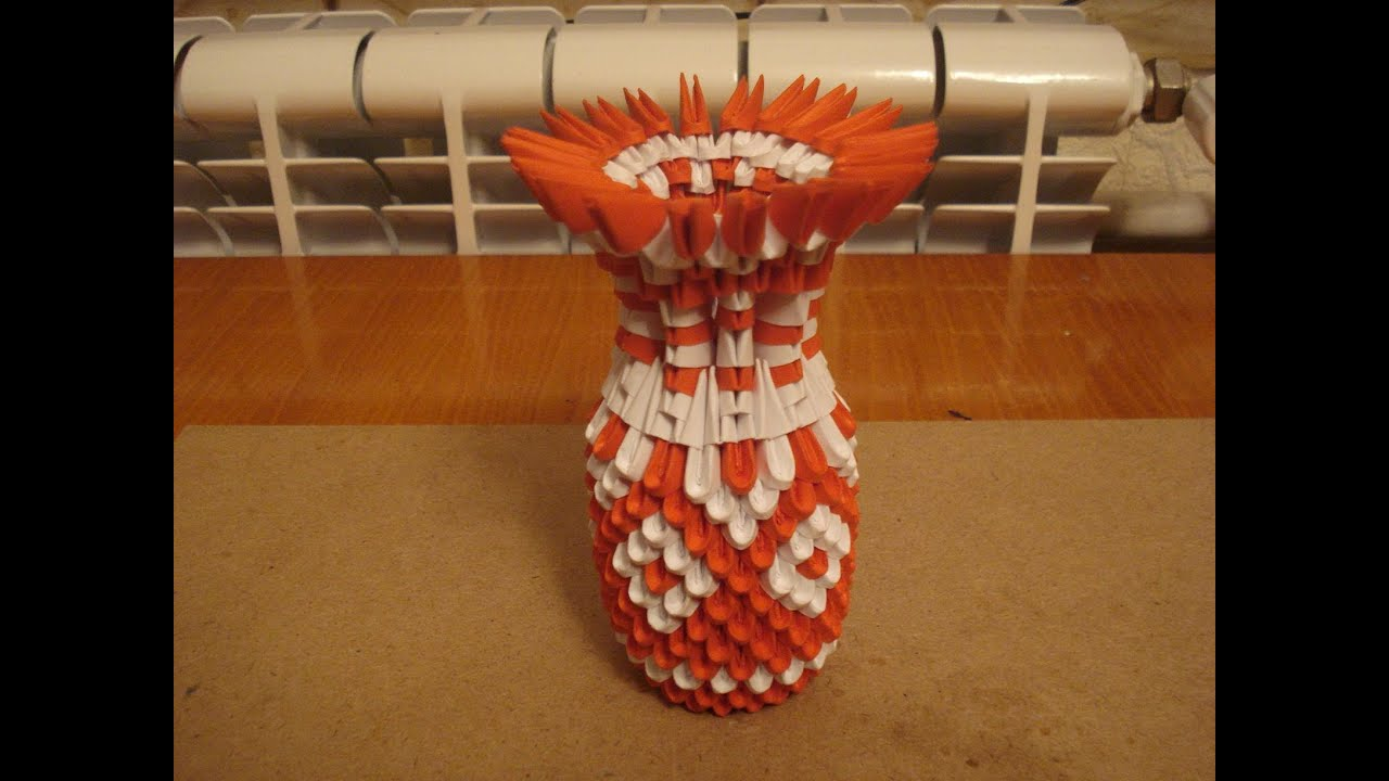3d origami vase tutorial 5 youtube floridaeventfo Image collections