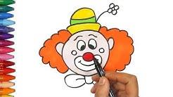 Wie man einen Clown zieht | Wie kann ich einen Clown ziehen? | Zeichnen und Ausmalen für Kinder
