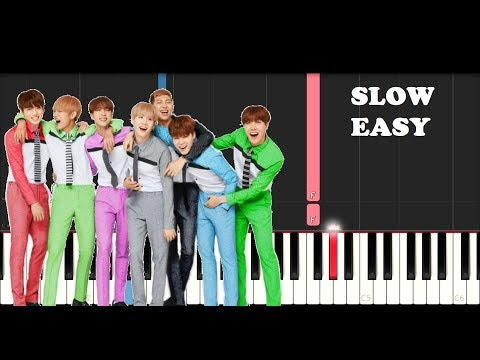 Bts - Save Me (SLOW EASY PIANO TUTORIAL)