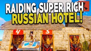 Raiding the Russian Hotel! The Guests Were Rich! - Rust Solo Survival