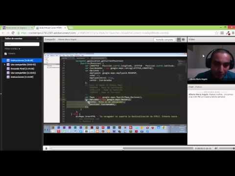 Tutoría de Geolocation API y Google Maps API  - Curso de HTML5 de BootCamps de AppsCo