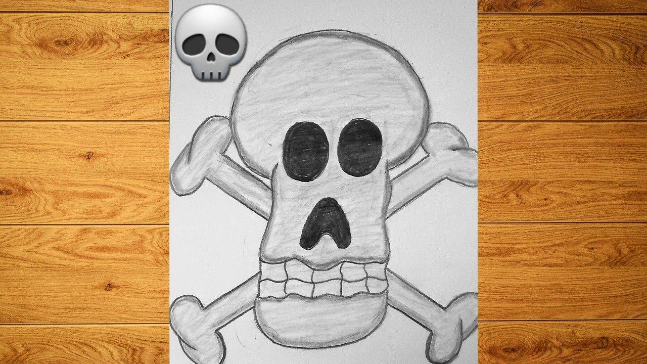رسم جمجمة بالفحم Drawing With