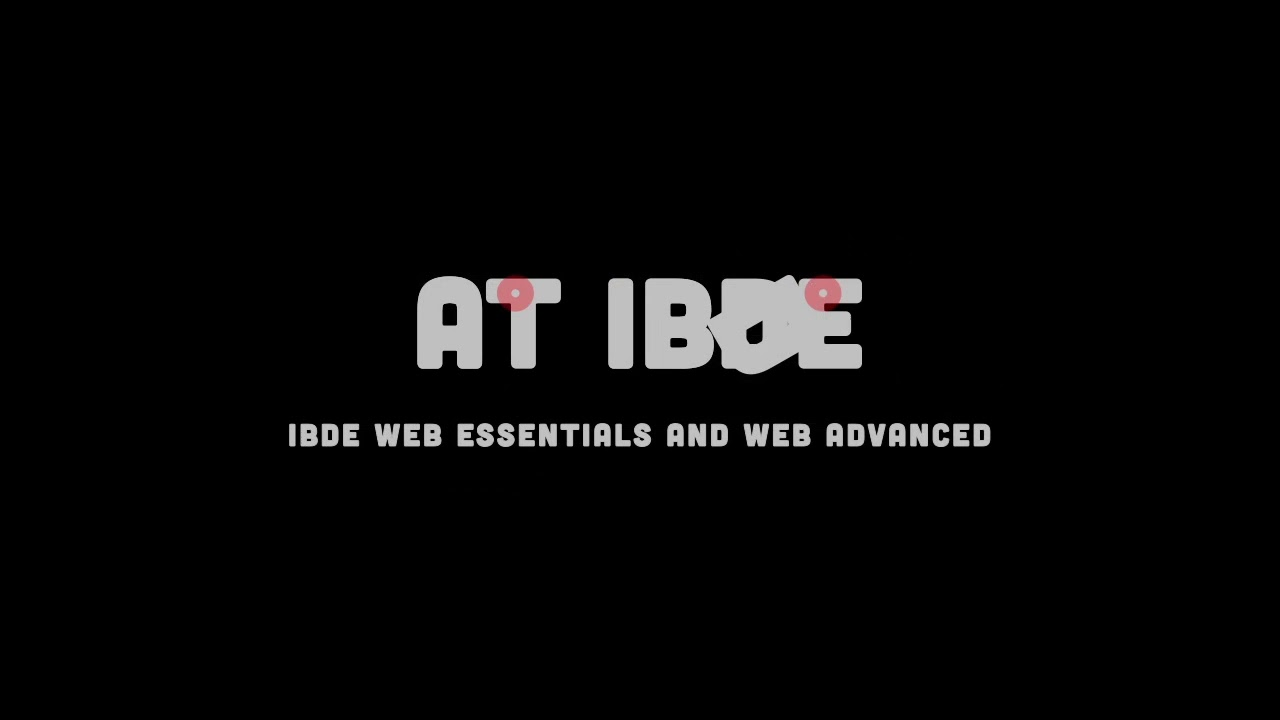 Ibde Online Applied Web Development And Design Certificate Youtube