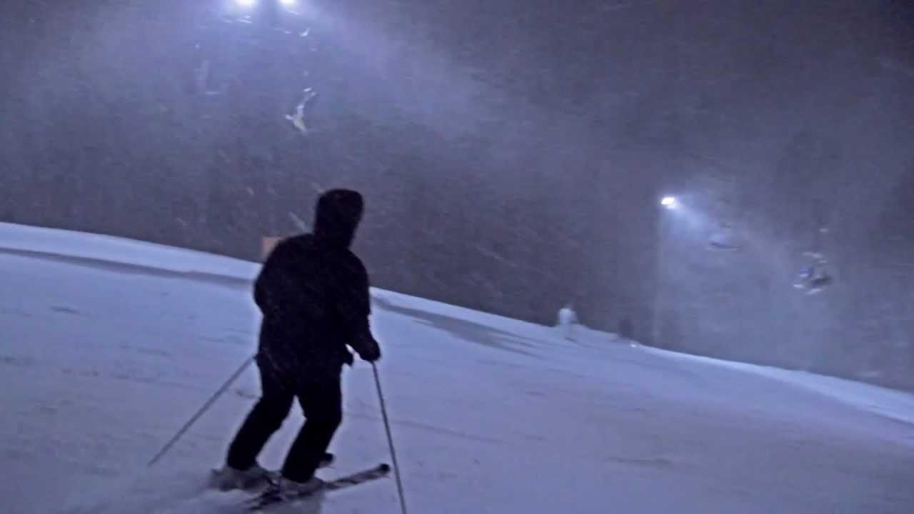 night ski follow cam - brighton ski resort 2011 - youtube