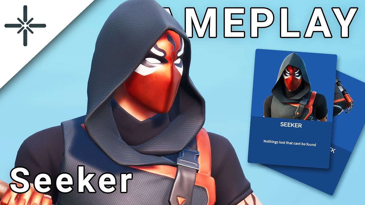 "LEAKED ""Seeker"" Fortnite Skin Gameplay (with ""Chainstick pack"" Back Bling)"