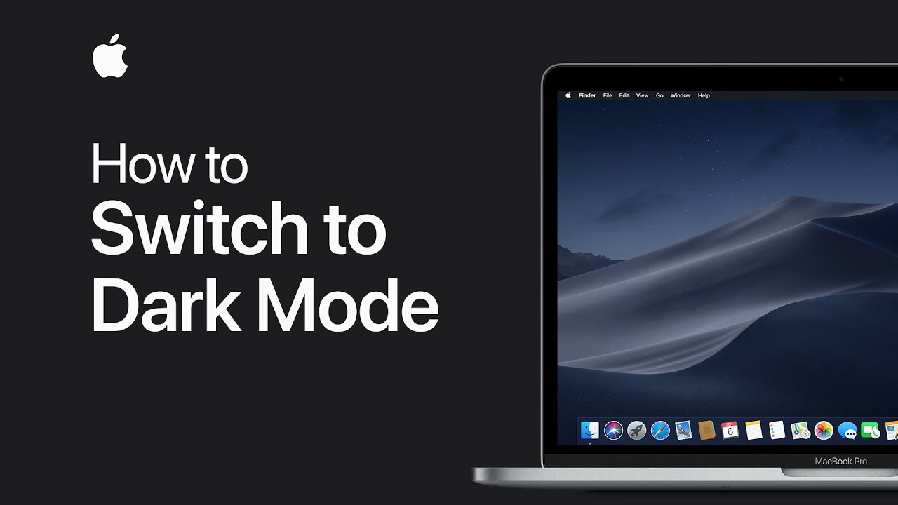 How to switch to Dark Mode on your Mac — Apple Support
